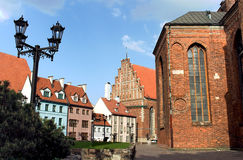 Riga old town architecture Stock Image