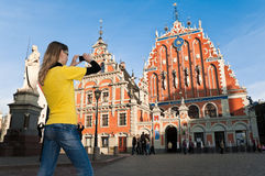 Riga old Town center stock images