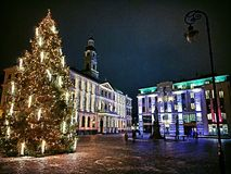 Riga. Old Town, Doma Laukums Royalty Free Stock Image
