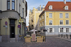 Riga, the old town, the intersection Palast and New street Stock Photography