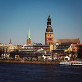 Riga Old Town, Latvia - retro photo. Stock Image