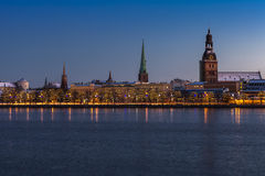 Riga Old Town skyline Royalty Free Stock Images