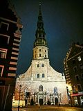 Riga. Old Town, St Peters Church Stock Images