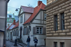 Riga old town street Royalty Free Stock Photography