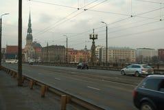 Riga, ongebruikelijke mening stock foto