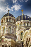Riga orthodox cathedral Royalty Free Stock Image