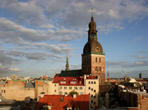 Riga panorama. royalty free stock photos
