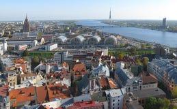 Riga panorama Stock Photography