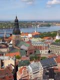 Riga-Panorama lizenzfreie stockfotos