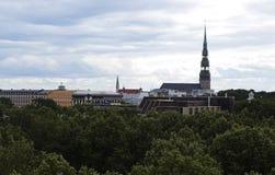 Riga panorama av den gamla staden Royaltyfri Bild