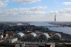 Riga panorama, Latvia Stock Images