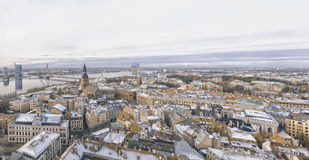 Riga Panorama of Old Town Stock Photography