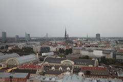 Riga, panorama. Rainy day. Latvia Stock Image