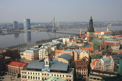 Riga - Panoramic View Royalty Free Stock Photos