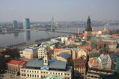 Riga - Panoramic View Royalty Free Stock Photos