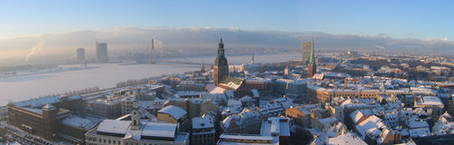 Riga panoramic Royalty Free Stock Images
