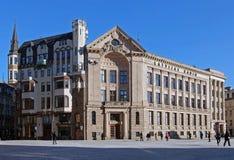 Riga, place de dôme, hause par radio image libre de droits