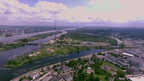 Riga Radio and TV Tower stock footage