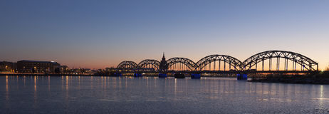 Riga Railway Bridge Royalty Free Stock Photo