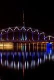 Riga Railway bridge Royalty Free Stock Image