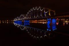 Riga Railway Bridge Stock Images