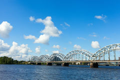 Riga railway bridge, Latvia. Stock Image