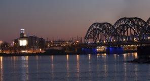 Riga Railway Bridge Royalty Free Stock Photos