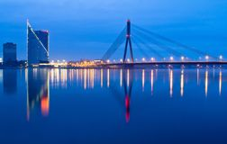 Riga, river Daugava Stock Images