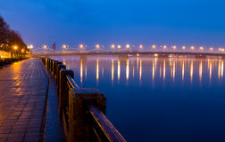 Riga, river Daugava Royalty Free Stock Photography