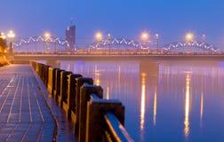 Riga, river Daugava Stock Image