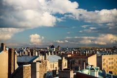 Riga rooftops Arkivbild