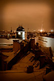 Riga rooftops Royaltyfria Foton