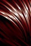 Riga rossa d'ondeggiamento priorità bassa della curva Fotografia Stock