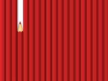Riga rossa delle matite Immagine Stock