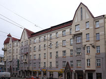 Riga, rue d'Aleksandra Caka 55, bâtiments historiques photographie stock libre de droits
