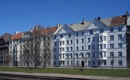Riga, rue de l'exportation 4-6, bloc près du port Photographie stock libre de droits