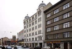 Riga, rue de Matisa photos libres de droits