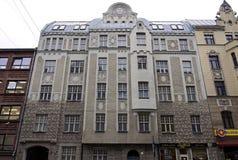 Riga, rue 41 de Matisa, moderne image stock