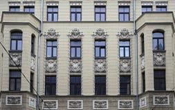 Riga, rue 43 de Matisa, moderne photographie stock