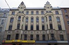 Riga, rue 43 de Matisa, moderne images libres de droits