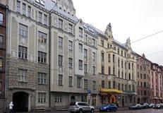 Riga, rue 41-47 de Matisa, moderne image stock