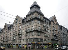 Riga, rue 36 de Matisa, moderne photo stock