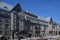Riga, Rupniecibas 5-7, apartment house in Art Nouveau style, Art Nouveau quarter. Riga, street Rupniecibas 5-7, apartment house in Art Nouveau style, Art Nouveau Royalty Free Stock Image