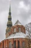 Riga Saint Peters Church Stock Images
