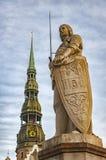 Riga Saint Roland Statue Stock Images