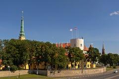 Riga-Schloss, Lettland stockbilder