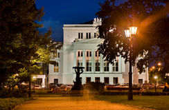 RIGA SEPTEMBER 01: a night view of the National Opera House in R Stock Photos