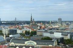 Panoramic view of Riga stock photo