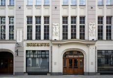 Riga, Smilshu 3, éléments d'Art Deco image libre de droits