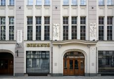 Riga Smilshu 3, beståndsdelar av Art Deco Royaltyfri Bild